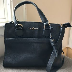 NEW Cole Haan Black Leather Berkeley Satchel
